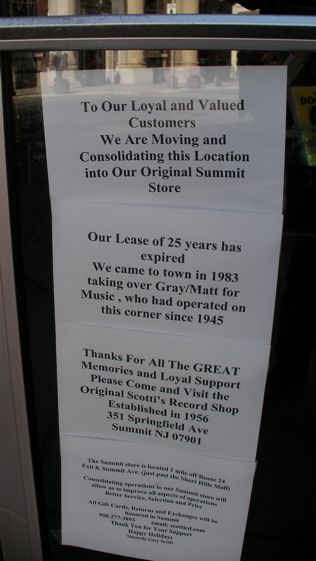 The day the music died scottis record shop closing in morristown by reheart Image collections