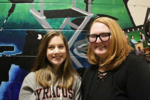 Morristown High School juniors Kylee Strasser, left, and Katie Rosa have created a documentary about the Morristown National Historical Park.
