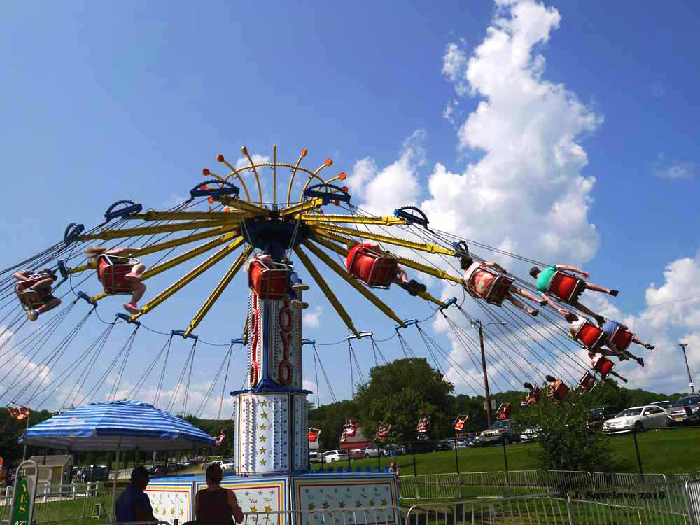 The midway at the NJ State Fair, August 2018. Photo by Jeff Sovelove